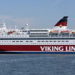 Testy żagla wirnikowego na promie Viking Grace