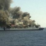 Pożar promu na Morzu Śródziemnym!