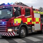 Pożar na promie w porcie Dover