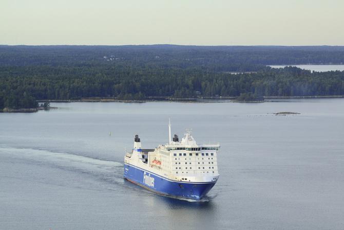 Byłe statki Eckerö teraz pod nazwami Finnlines