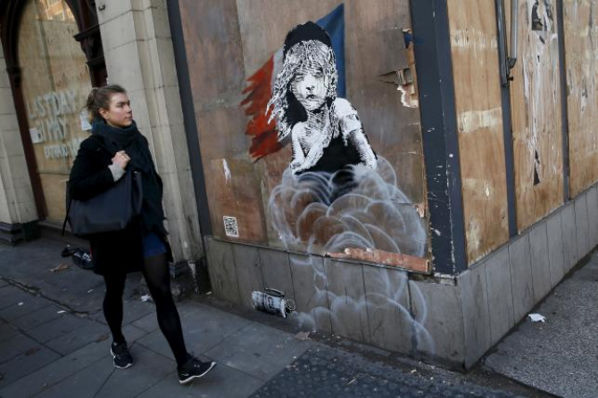 Banksy kontynuuje przekaz o Calais