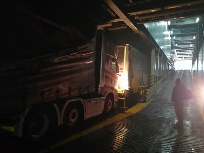 Pożar na pokładzie promu Stena Line [ZDJĘCIA]