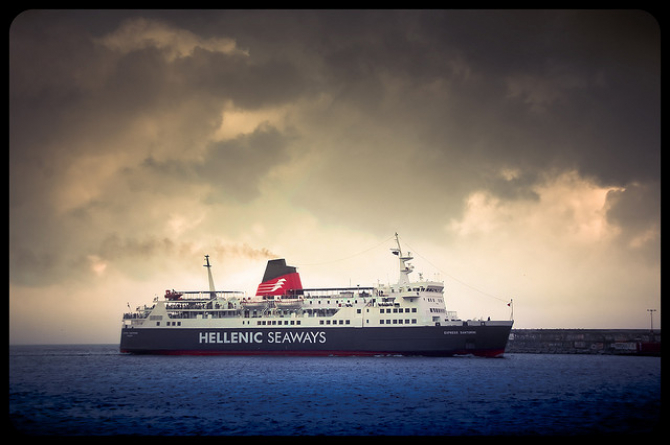 Uszczuplona flota Hellenic Seaways