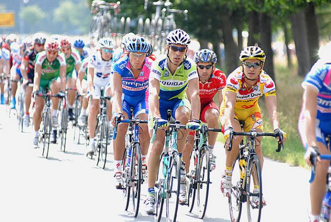 Start wyścigu kolarskiego na promie Stena Line