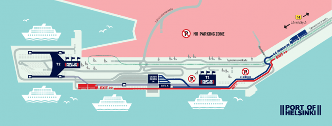 Zmiana dojazdu do zachodniego portu w Helsinkach